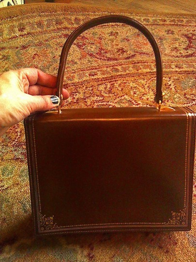 Other Satchel in congac and gold Image 5