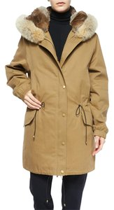 Vince Fur Rabbit Parka Fur Coat