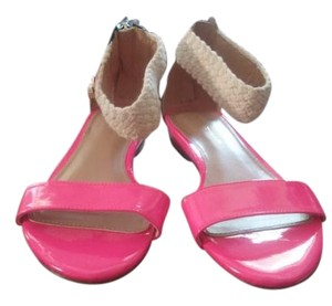 Tommy Hilfiger Pink, beige, and black Sandals