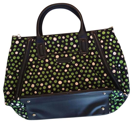 Preload https://item1.tradesy.com/images/vera-bradley-trapze-tote-lucky-14429-204951-blackgreenwhite-dots-cloth-and-leather-tote-17756575-0-1.jpg?width=440&height=440