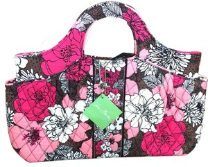 Vera Bradley Tote in Pink/Red/Mocha Floral