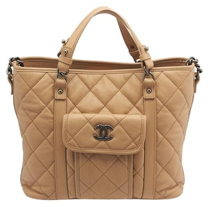 Chanel Cc Caviar Tote in Beige