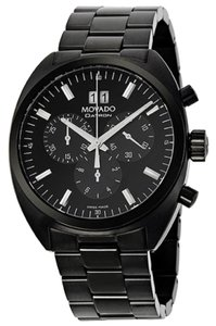 Movado Black PVD Stainless Steel Designer MENS Casual Dress Luxury Watch