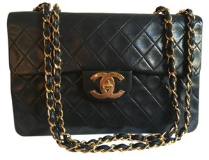 Chanel Vintage Leather Gold Hardware Lambskin Classic Shoulder Bag