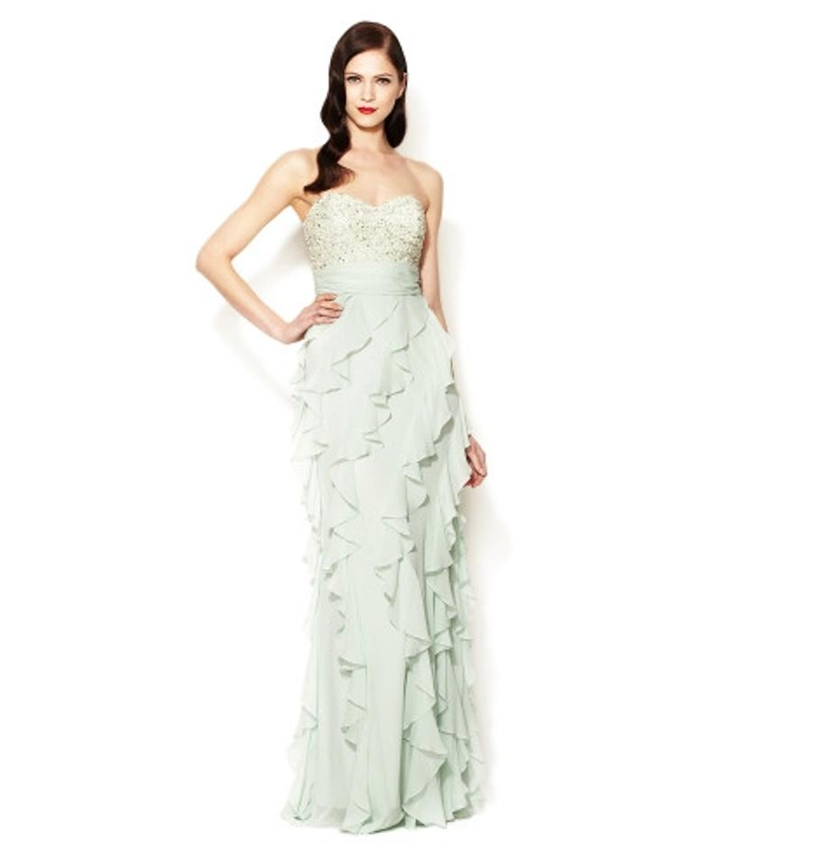 2c01074428c3 Badgley Mischka Mint and Beaded Detailing With Tags Silk Bodice ...