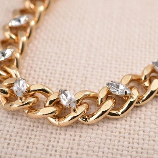 Forever 21 Forever21 Opal Crystal Thick Lock Chain Necklace