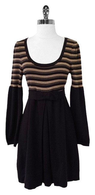 Preload https://item3.tradesy.com/images/nanette-lepore-brown-wool-striped-mid-length-short-casual-dress-size-8-m-1775777-0-0.jpg?width=400&height=650