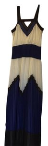 Brown blue and cream Maxi Dress by MILLY