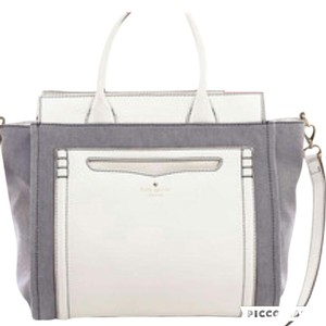 Kate Spade Satchel in blue and white