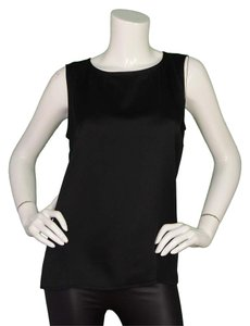 Chanel Silk Sleevless Top black