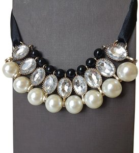 Other Faux Pearl Rhinestone Adjustable Necklace