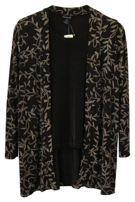 Other Glitter Sparkle Duster Citiknits Travel Top Brown
