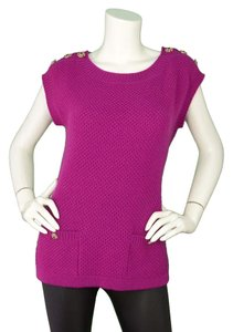 Chanel Sleeveless Cashmere Sweater