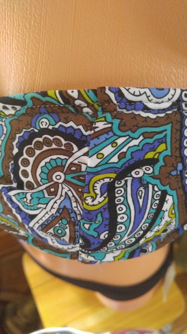 Tommy Bahama Teal Paisley purple padded top swim or not.. S