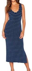 Navy and White Maxi Dress by Saint Grace Midi Midi Melina