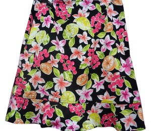 Briggs New York Floral Fruity Skirt Multi-Color