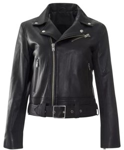 IRO Alexander Wang Veda Blue Leather Jacket
