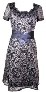 Carolina Herrera Gray Lace Dress