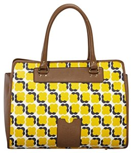 Orla Kiely Satchel in Sun Yellow