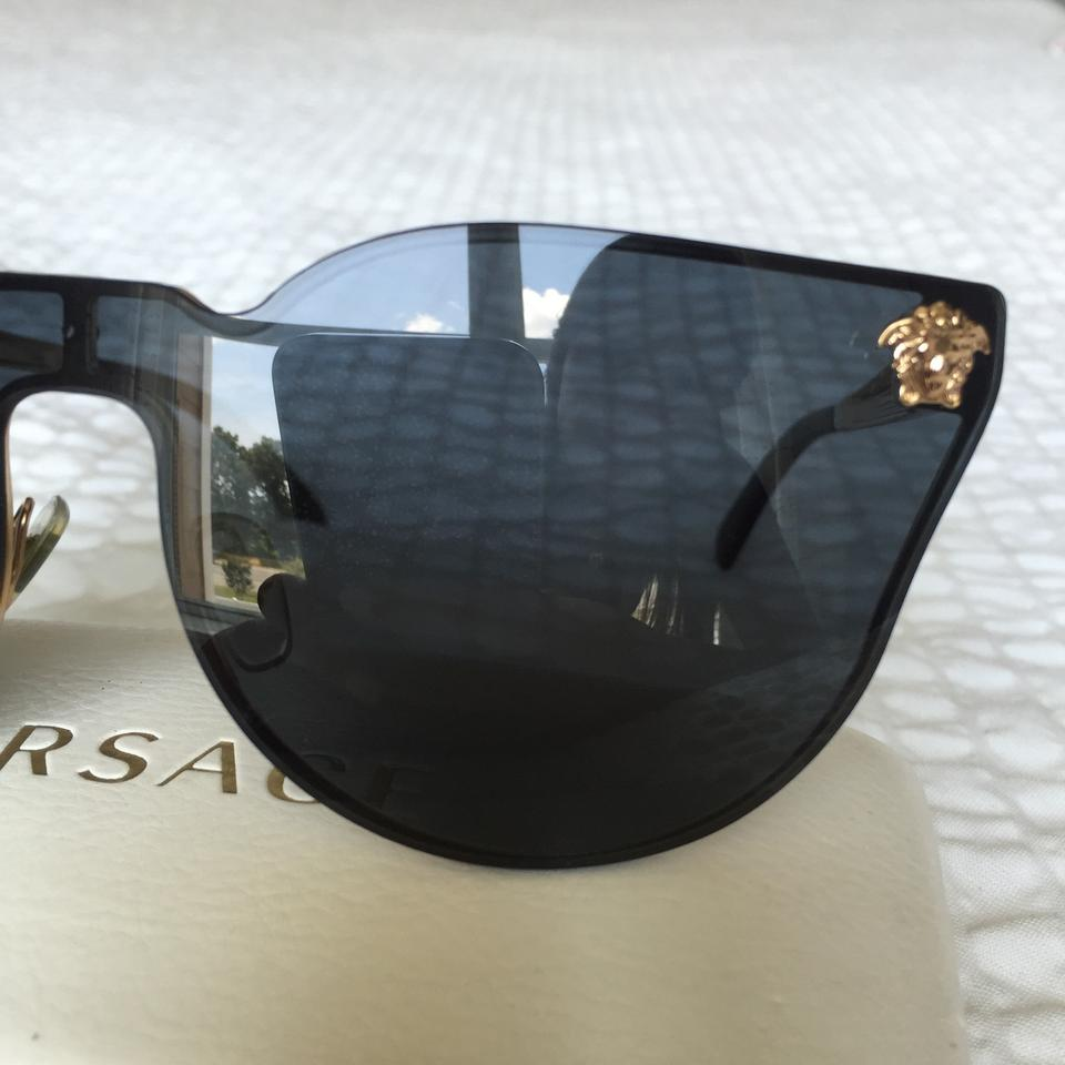 067b402450ce Versace Black Rimless Cat Eye Ve2120 Sunglasses - Tradesy