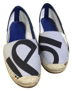 Burberry Prorsum Bright & Steel Blue Flats