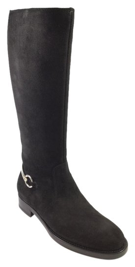 Gucci Horsebit Suede Kneehigh Riding Knee High Black Boots