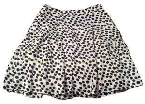 Ann Taylor LOFT Polka Dot Mini Skirt Cream