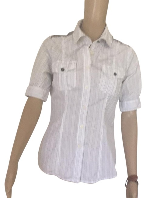 Preload https://item2.tradesy.com/images/just-cavalli-white-with-pin-stripes-button-down-top-size-6-s-17760586-0-1.jpg?width=400&height=650