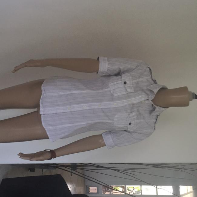 Just Cavalli Button Down Shirt White with pin stripes
