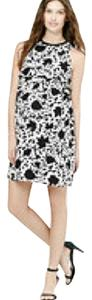 Ann Taylor LOFT short dress Black, White, Cream on Tradesy