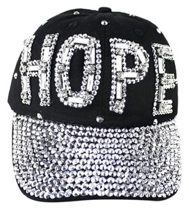 Rhinestone Crystal Accent HOPE Baseball Cap