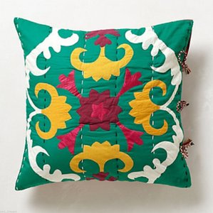 Anthropologie Multi-color Dalian Embroidered Euro Sham Other