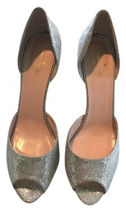 Kate Spade Sparkly Shiny Comfortable Chic silver Pumps