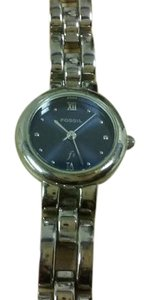 Fossil Fossil Ladies silvertone Quartz watch with blue dial