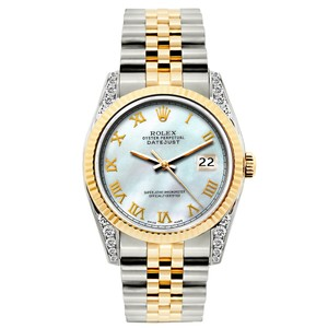 Rolex LADIES 26mm DATEJUST GOLD S/S WATCH WITH APPRAISAL