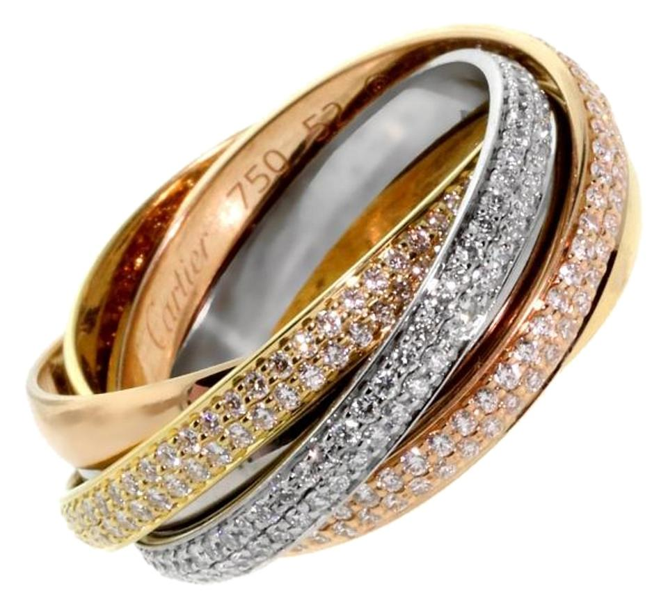 Cartier trinity diamond gold ring tradesy cartier cartier trinity diamond gold ring junglespirit Choice Image