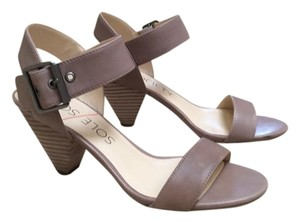 Solesociety Grease calf leather (taupe) Sandals