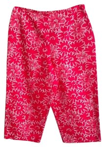 Talbots Capris Hot Pink & white Floral print