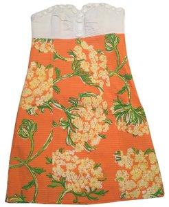 Lilly Pulitzer short dress Orange, white on Tradesy