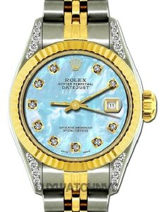 Rolex LADIES DATEJUST GOLD S/S DIAMOND WATCH WITH ROLEX BOX & APPRAISAL