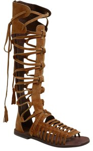 Free People Sun Seeker Tall Gladiator Brown Sandals