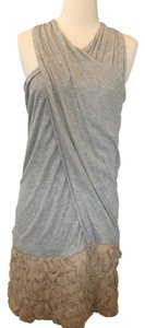 Yigal Azrouël short dress Gray Summer Racerback Ruffles Gray/silver on Tradesy