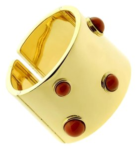 FRED Fred of Paris Coral Gold Cuff Bracelet