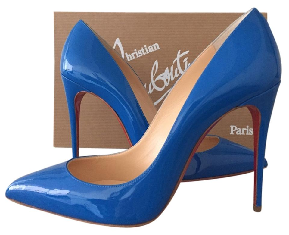 678e1420c17e Christian Louboutin Blue Pigalle Follies 100mm So Kate Patent Leather Pumps