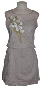 Matty M short dress Taupe Embroidered Cinched Resort Vacation on Tradesy