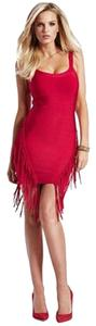 Guess By Marciano Fringe Bandage Bodycon Dress