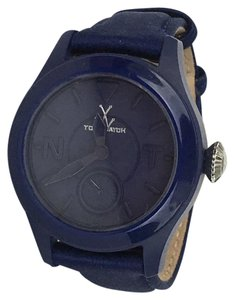 ToyWatch Toy Watch Toy To Fly Navy Satin Large Wrist Watch