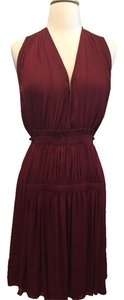 Isabel Marant short dress Claret/Red Pleated Voile Red Summer on Tradesy