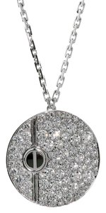 Cartier Cartier Love Pave Diamond White Gold Necklace