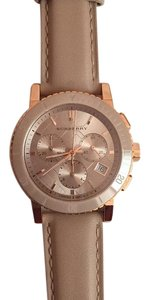 Burberry BURBERRY BU9704 BURBERRY Chronograph Rose Dial Rose gold-tone Unisex Watch